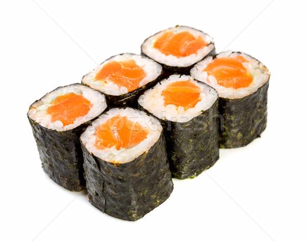 Sushi rollen maki witte japans keuken Stockfoto © cookelma