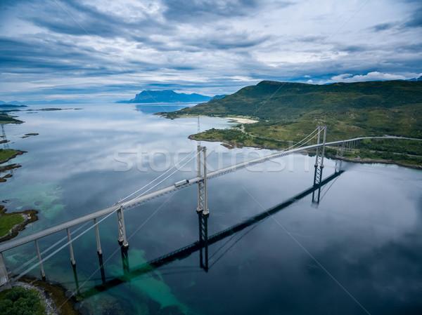 Tjeldsundbrua bridge in Norway Stock photo © cookelma