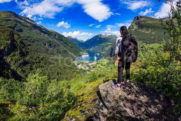 ノルウェー 美しい 自然 長い 支店 オフ ストックフォト © cookelma