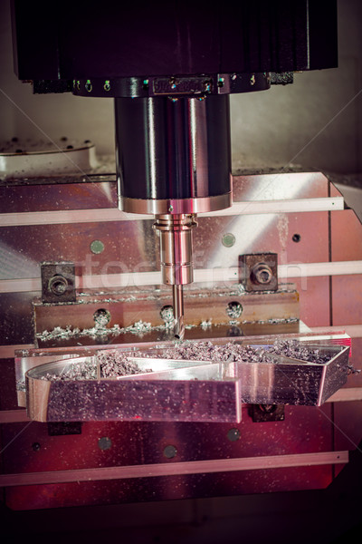 Stock fotó: Gép · vág · fém · modern · technológia · kicsi