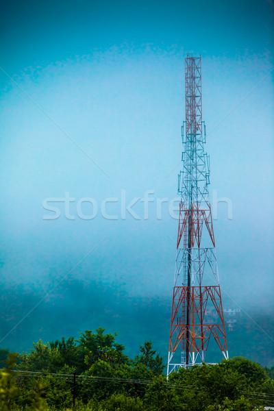 携帯電話 アンテナ コミュニケーション 塔 電子レンジ データ ストックフォト © cookelma
