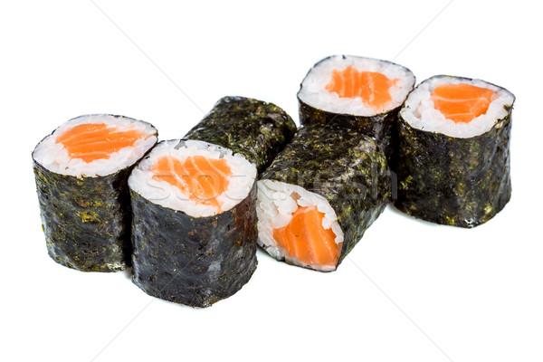 суши катиться маки белый Японский кухня Сток-фото © cookelma