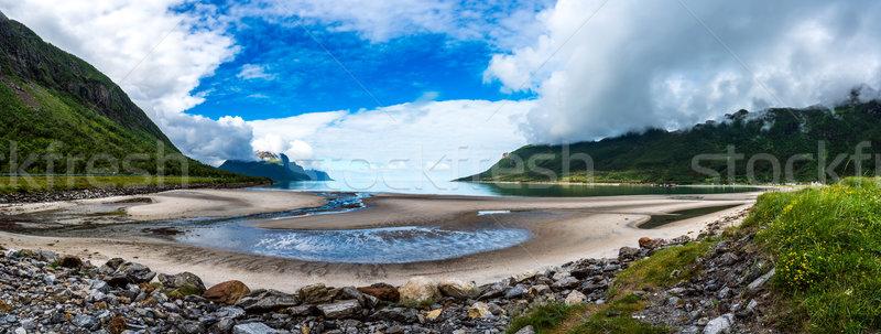 Piękna charakter Norwegia panorama naturalnych krajobraz Zdjęcia stock © cookelma