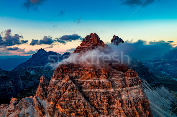 National Nature Park Tre Cime In the Dolomites Alps. Beautiful n Stock photo © cookelma
