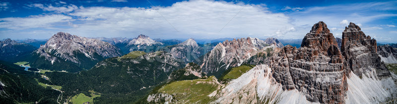 Panorama National Nature Park Tre Cime In the Dolomites Alps. Be Stock photo © cookelma
