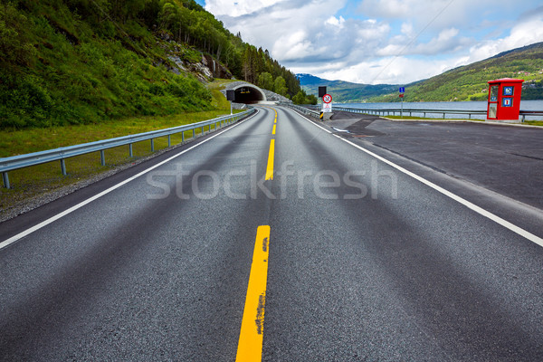 Mountain road in Norway. The entrance to the tunnel. Stock photo © cookelma