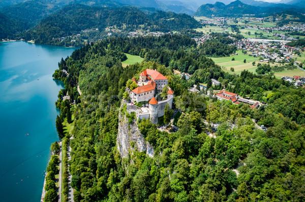 スロベニア リゾート 湖 空 水 ストックフォト © cookelma