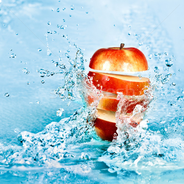 Apple and water Stock photo © cookelma