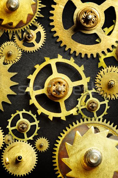 Mekanizma eski dişliler siyah teknoloji Metal Stok fotoğraf © cookelma