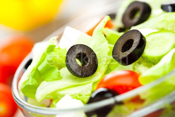 Frescos ensalada sabroso comida vegetariana luz salud Foto stock © cookelma