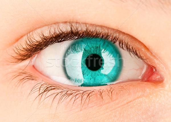 глаза человека женщину женщины кожи Сток-фото © cookelma