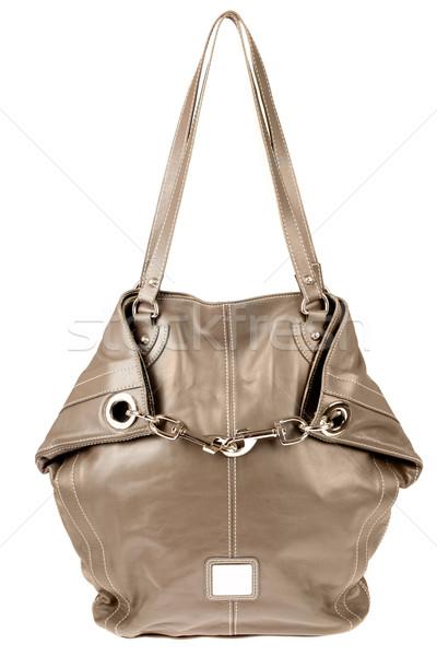 Kézitáska női bőr fehér táska stílus Stock fotó © cookelma