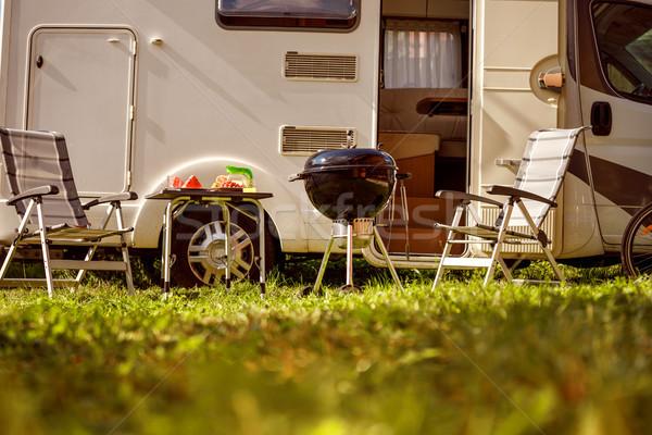 家族 休暇 旅行 休日 旅行 キャラバン ストックフォト © cookelma
