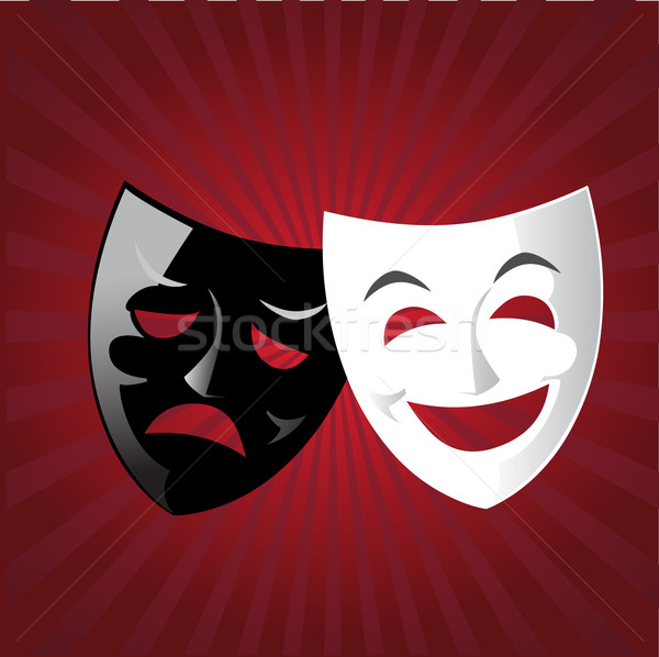 Theater maskers illustratie drama tragedie komedie Stockfoto © coolgraphic