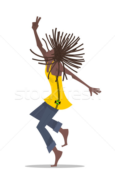 Férfi tánc reggae zene rajz Stock fotó © coolgraphic