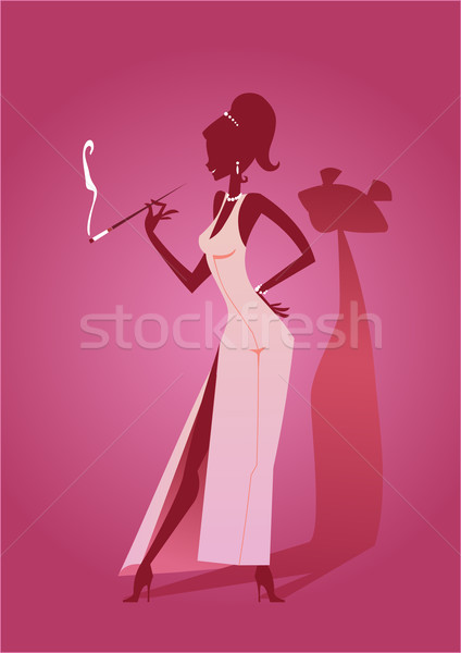 Pink Panther Lady Stock photo © coolgraphic