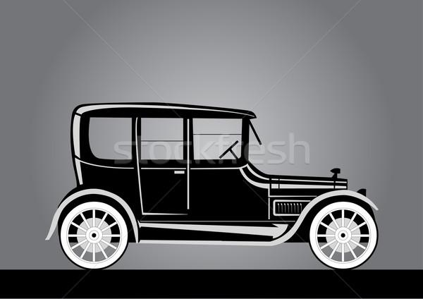 Régi autó sziluett öreg Stock fotó © coolgraphic