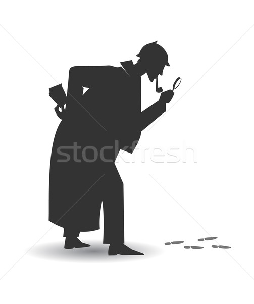 Investigator silhouette Stock photo © coolgraphic