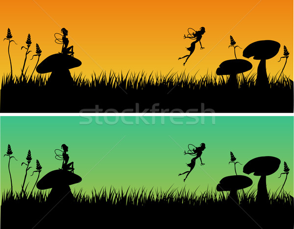 Grass with fairies Stock photo © coolgraphic