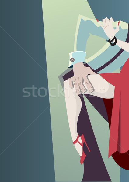 Tangó rajz poszter Stock fotó © coolgraphic