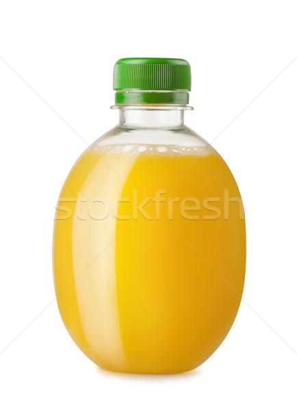 апельсиновый сок бутылку изолированный белый стекла фон Сток-фото © coprid