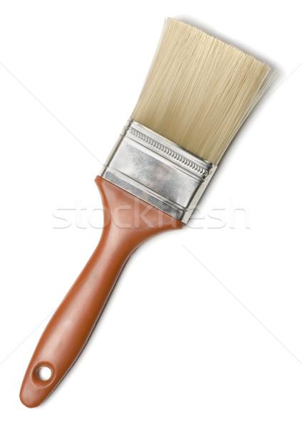 Pędzlem nowego odizolowany biały działalności drewna Zdjęcia stock © coprid
