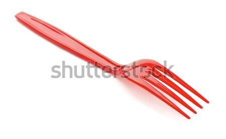 Plastic fork  Stock photo © coprid