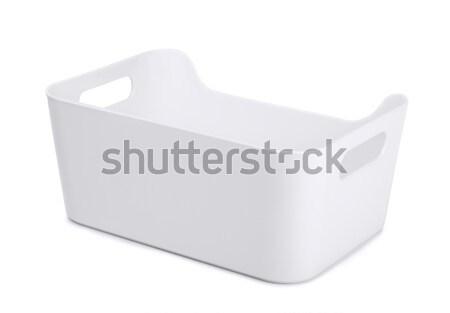 Stoccaggio contenitore bianco plastica isolato business Foto d'archivio © coprid