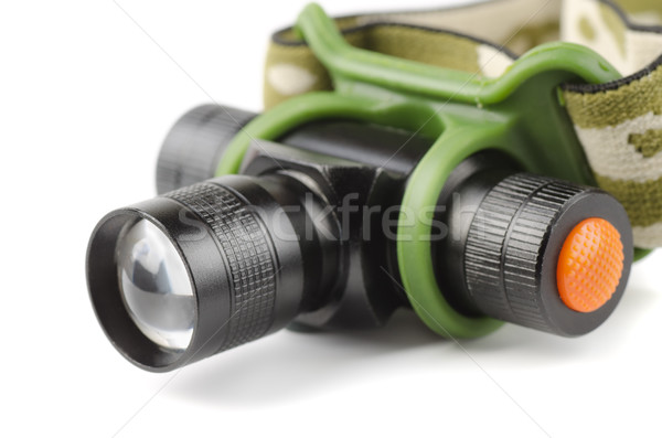 Tête lampe isolé blanche travaux Photo stock © coprid