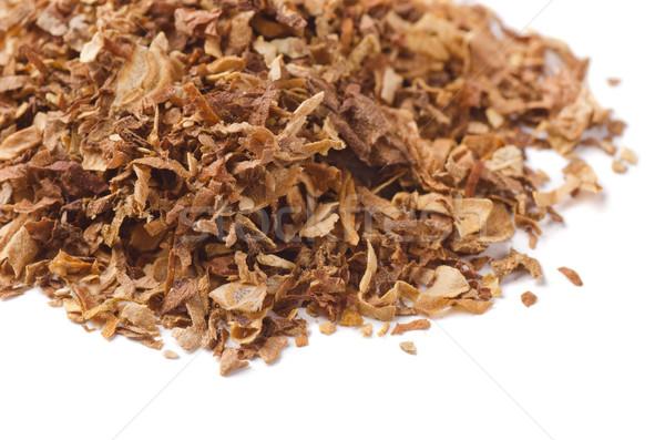 Tabak gedroogd pijp geïsoleerd witte Stockfoto © coprid