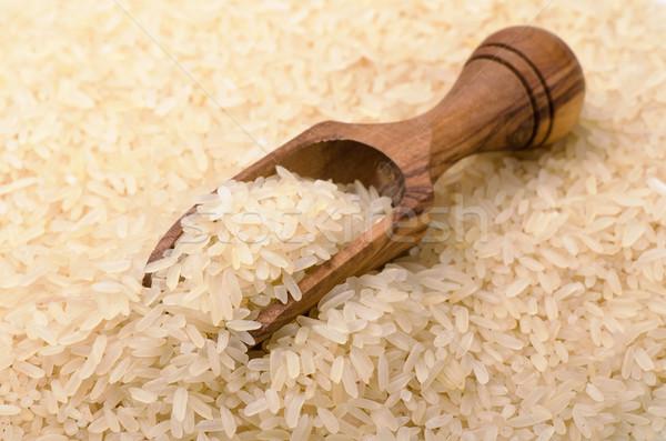 риса черпать долго зерна древесины Сток-фото © coprid