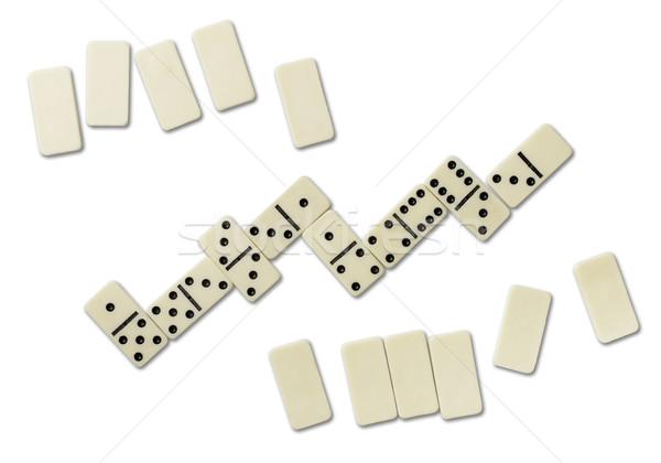 Top domino games geïsoleerd witte Stockfoto © coprid