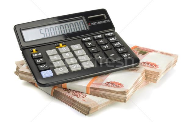 電卓 スタック お金 孤立した 白 ビジネス ストックフォト © coprid