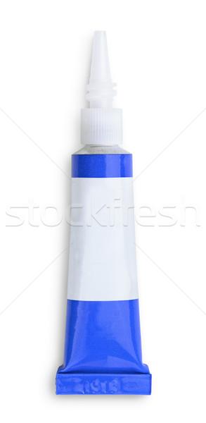 Colla piccolo tubo isolato bianco sfondo Foto d'archivio © coprid