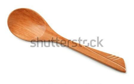 Cuchara de madera aislado blanco naturaleza cocina espacio Foto stock © coprid