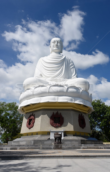 Buda uzun oğul pagoda mavi seyahat Stok fotoğraf © coprid