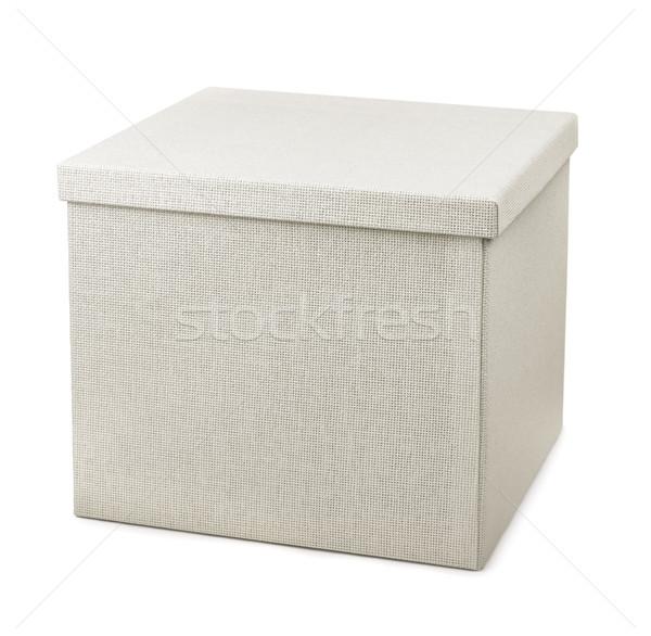 Opslag vak gesloten geïsoleerd witte papier Stockfoto © coprid