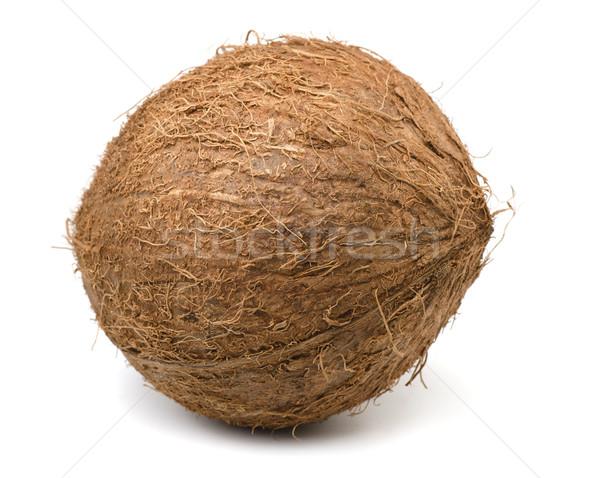 кокосового изолированный белый древесины фон пить Сток-фото © coprid