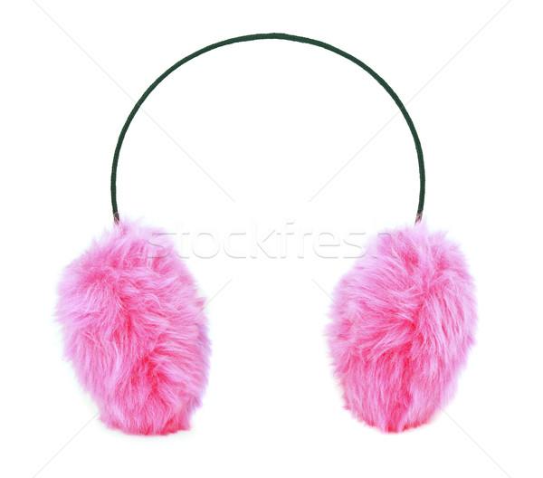 耳 ピンク 孤立した 白 女性 ストックフォト © coprid
