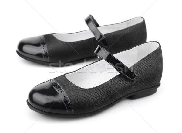 女性の靴 ペア 黒 孤立した 白 女性 ストックフォト © coprid