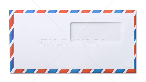 Envelop lucht mail venster geïsoleerd witte Stockfoto © coprid