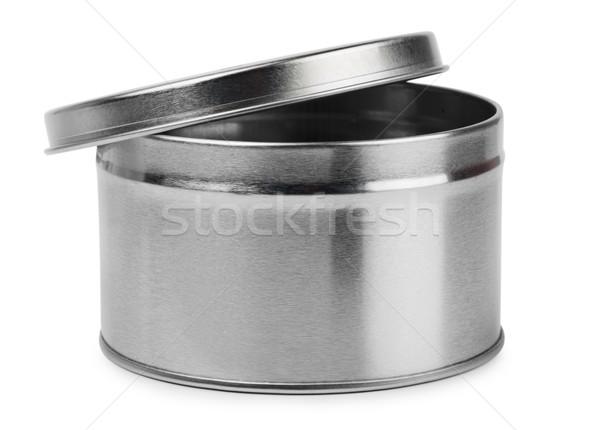металл контейнера изолированный белый продовольствие фон Сток-фото © coprid