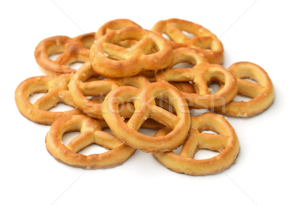 Tuzlu kraker yalıtılmış beyaz grup ekmek Stok fotoğraf © coprid