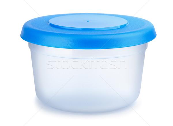 Plastique alimentaire contenant isolé blanche Photo stock © coprid