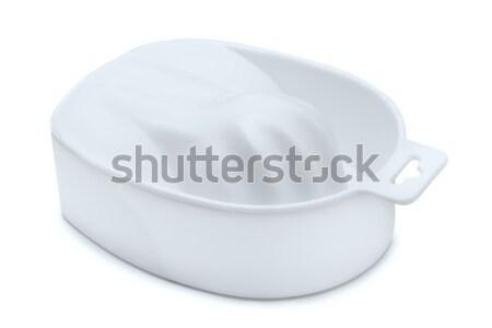 пальца ванны пластиковых изолированный белый рук Сток-фото © coprid