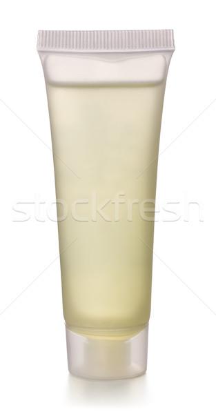 Jel tüp şeffaf plastik kozmetik yalıtılmış Stok fotoğraf © coprid