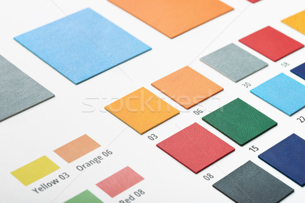 Artificial leather color swatches Stock photo © coprid
