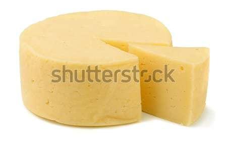 チーズ ホイール 伝統的な 孤立した 白 自然 ストックフォト © coprid
