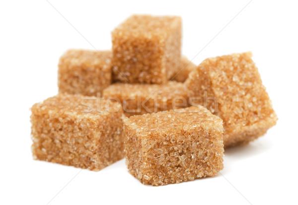 ブラウン 砂糖 孤立した 白 ストックフォト © coprid
