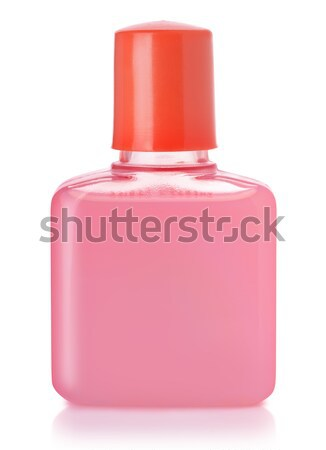 Sampon üveg kicsi műanyag izolált fehér Stock fotó © coprid